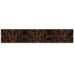 Damask1 Black Marble & Brown Wood Flano Scarf (large) by trendistuff