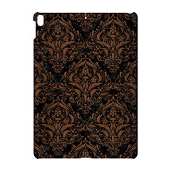 Damask1 Black Marble & Brown Wood Apple Ipad Pro 10 5   Hardshell Case by trendistuff