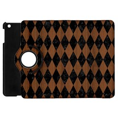 Diamond1 Black Marble & Brown Wood Apple Ipad Mini Flip 360 Case by trendistuff