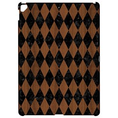 Diamond1 Black Marble & Brown Wood Apple Ipad Pro 12 9   Hardshell Case by trendistuff