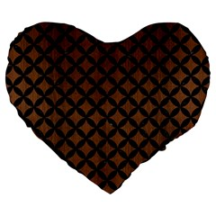 Circles3 Black Marble & Brown Wood (r) Large 19  Premium Heart Shape Cushion by trendistuff