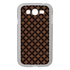 Circles3 Black Marble & Brown Wood (r) Samsung Galaxy Grand Duos I9082 Case (white) by trendistuff