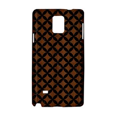 Circles3 Black Marble & Brown Wood (r) Samsung Galaxy Note 4 Hardshell Case by trendistuff