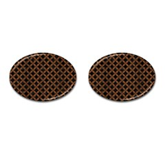 Circles3 Black Marble & Brown Wood Cufflinks (oval) by trendistuff