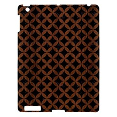 Circles3 Black Marble & Brown Wood Apple Ipad 3/4 Hardshell Case by trendistuff