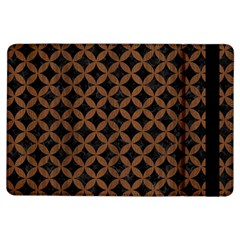 Circles3 Black Marble & Brown Wood Apple Ipad Air Flip Case by trendistuff