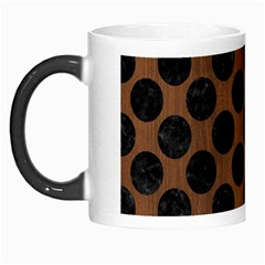 Circles2 Black Marble & Brown Wood (r) Morph Mug by trendistuff