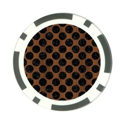 Circles2 Black Marble & Brown Wood (r) Poker Chip Card Guard (10 Pack) by trendistuff