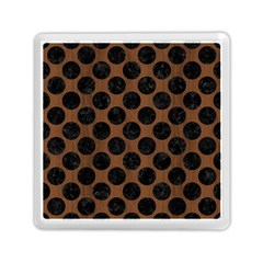 Circles2 Black Marble & Brown Wood (r) Memory Card Reader (square) by trendistuff