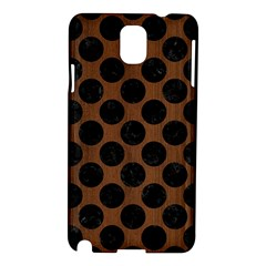 Circles2 Black Marble & Brown Wood (r) Samsung Galaxy Note 3 N9005 Hardshell Case by trendistuff