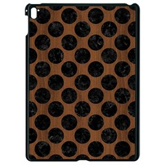 Circles2 Black Marble & Brown Wood (r) Apple Ipad Pro 9 7   Black Seamless Case by trendistuff