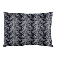 Black Floral Lace Pattern Pillow Case by paulaoliveiradesign