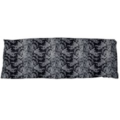 Black Floral Lace Pattern Body Pillow Case (dakimakura) by paulaoliveiradesign