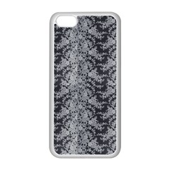 Black Floral Lace Pattern Apple Iphone 5c Seamless Case (white) by paulaoliveiradesign