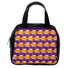 Purple And Yellow Abstract Pattern Classic Handbags (one Side) by paulaoliveiradesign