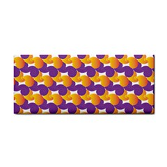 Purple And Yellow Abstract Pattern Cosmetic Storage Cases by paulaoliveiradesign