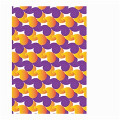 Purple And Yellow Abstract Pattern Small Garden Flag (two Sides) by paulaoliveiradesign