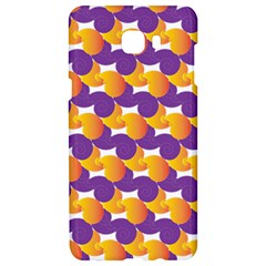 Purple And Yellow Abstract Pattern Samsung C9 Pro Hardshell Case