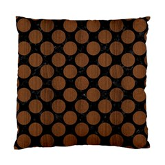 Circles2 Black Marble & Brown Wood Standard Cushion Case (one Side) by trendistuff