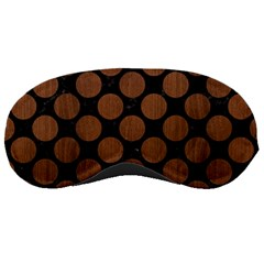 Circles2 Black Marble & Brown Wood Sleeping Mask by trendistuff