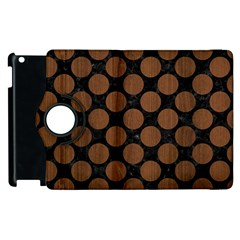 Circles2 Black Marble & Brown Wood Apple Ipad 2 Flip 360 Case by trendistuff