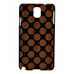 Circles2 Black Marble & Brown Wood Samsung Galaxy Note 3 N9005 Hardshell Case by trendistuff