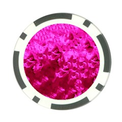Hot Pink Floral Pattern Poker Chip Card Guard (10 Pack) by paulaoliveiradesign