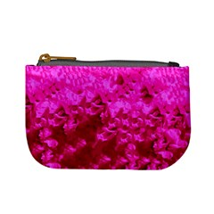 Hot Pink Floral Pattern Mini Coin Purses by paulaoliveiradesign