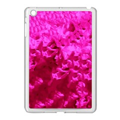 Hot Pink Floral Pattern Apple Ipad Mini Case (white)