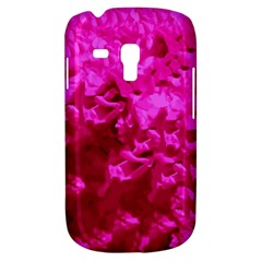 Hot Pink Floral Pattern Galaxy S3 Mini by paulaoliveiradesign
