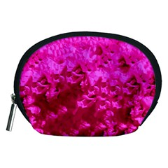 Hot Pink Floral Pattern Accessory Pouches (medium)