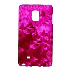 Hot Pink Floral Pattern Galaxy Note Edge by paulaoliveiradesign