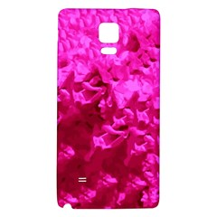 Hot Pink Floral Pattern Galaxy Note 4 Back Case by paulaoliveiradesign