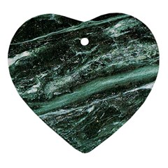 Green Marble Stone Texture Emerald  Ornament (heart) by paulaoliveiradesign