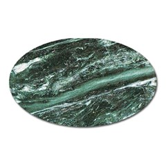 Green Marble Stone Texture Emerald  Oval Magnet by paulaoliveiradesign