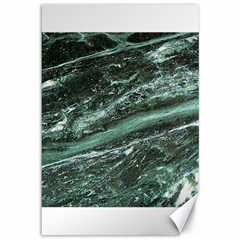Green Marble Stone Texture Emerald  Canvas 12  X 18   by paulaoliveiradesign