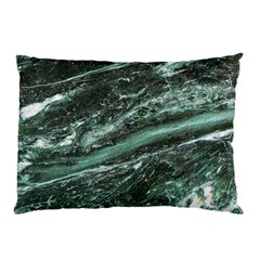 Green Marble Stone Texture Emerald  Pillow Case by paulaoliveiradesign