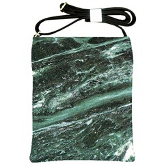 Green Marble Stone Texture Emerald  Shoulder Sling Bags by paulaoliveiradesign