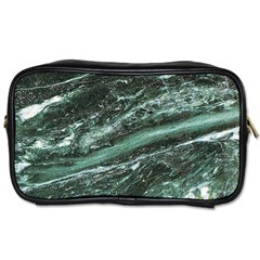 Green Marble Stone Texture Emerald  Toiletries Bags by paulaoliveiradesign