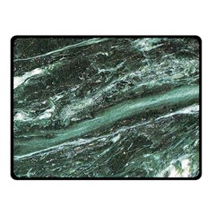 Green Marble Stone Texture Emerald  Fleece Blanket (small) by paulaoliveiradesign