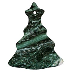 Green Marble Stone Texture Emerald  Ornament (christmas Tree)  by paulaoliveiradesign