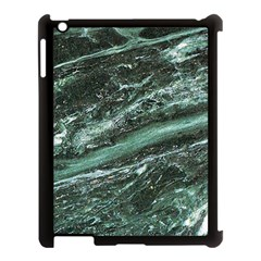 Green Marble Stone Texture Emerald  Apple Ipad 3/4 Case (black) by paulaoliveiradesign