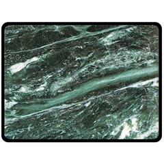 Green Marble Stone Texture Emerald  Double Sided Fleece Blanket (large)  by paulaoliveiradesign