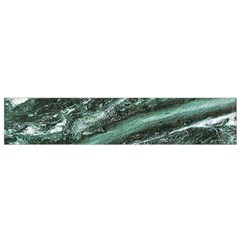 Green Marble Stone Texture Emerald  Flano Scarf (small) by paulaoliveiradesign