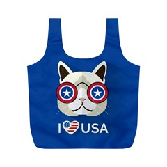 Cat I Love Usa Reusable Bag (m)