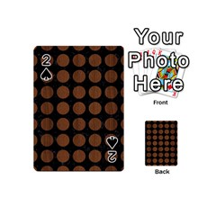 Circles1 Black Marble & Brown Wood Playing Cards 54 (mini) by trendistuff