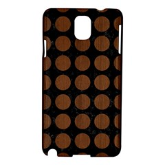 Circles1 Black Marble & Brown Wood Samsung Galaxy Note 3 N9005 Hardshell Case by trendistuff