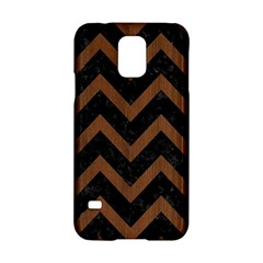 Chevron9 Black Marble & Brown Wood Samsung Galaxy S5 Hardshell Case  by trendistuff