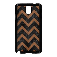 Chevron9 Black Marble & Brown Wood Samsung Galaxy Note 3 Neo Hardshell Case (black) by trendistuff