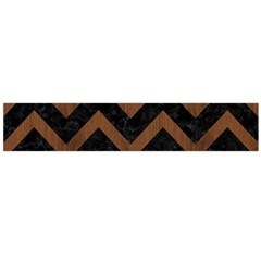 Chevron9 Black Marble & Brown Wood Flano Scarf (large) by trendistuff